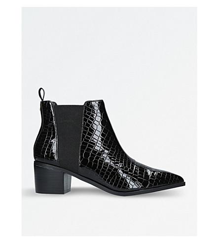 MISS KG Sharpe croc-print ankle boots (Black