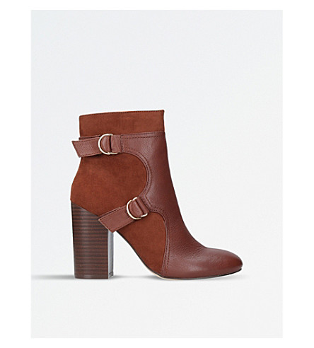 NINE WEST Chipper heeled ankle boots (Brown