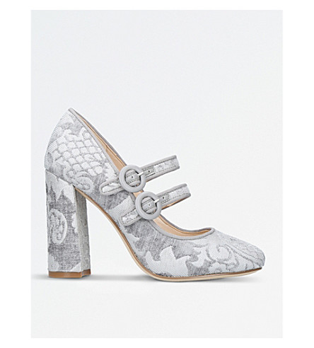 NINE WEST Dabney patterned fabric court shoes (Grey