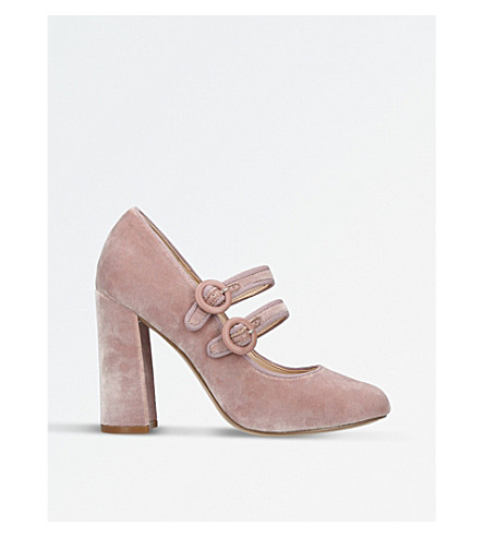 NINE WEST Dabney fabric court shoes (Pale+pink