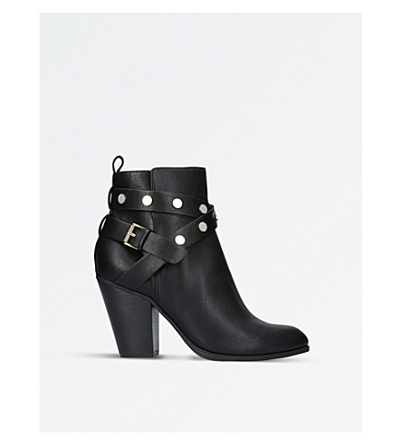 NINE WEST Harlyn strap-detail leather boots (Black