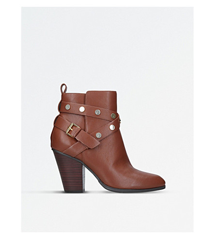 NINE WEST Harlyn strap-detail leather boots (Brown
