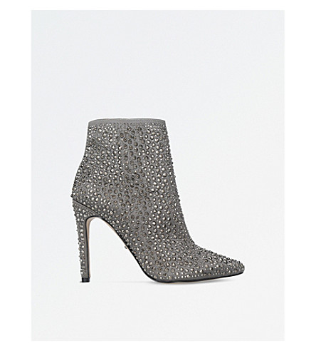 CARVELA Genevive embellished satin boots (Grey