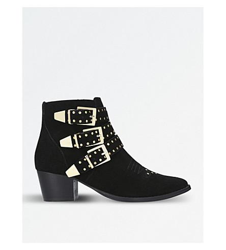 MISS KG 虎麂皮绒踝靴 (黑色