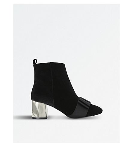 MISS KG Talisa metallic-heel velvet ankle boots (Black