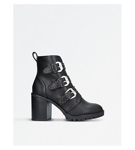 MISS KG Saxon Biker Boots (Black