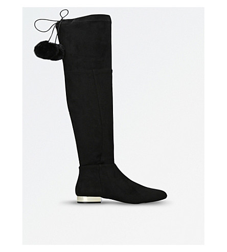 MISS KG Vicky suedette pom-pom boots (Black