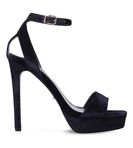 CARVELA Galaxy velvet courts (Black