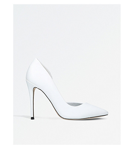 MISS KG Alexandra half-d'Orsay court shoes (White