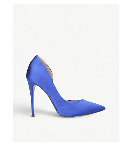 MISS KG Alexandra satin court shoes (Blue