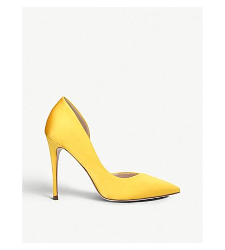 MISS KG Alexandra satin court shoes (Yellow