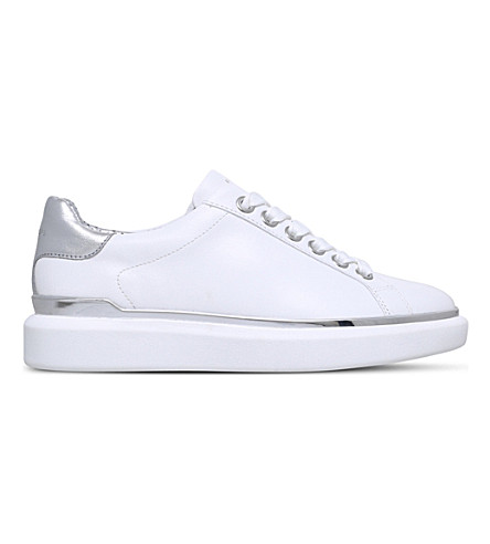 MICHAEL MICHAEL KORS Max leather trainers (White