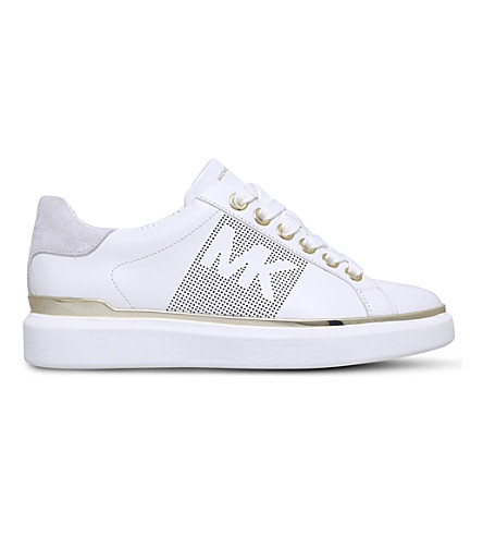 MICHAEL MICHAEL KORS Max leather trainers (White/comb