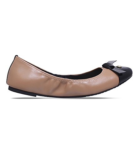 MICHAEL MICHAEL KORS Mellie leather ballet flats (Blk/other