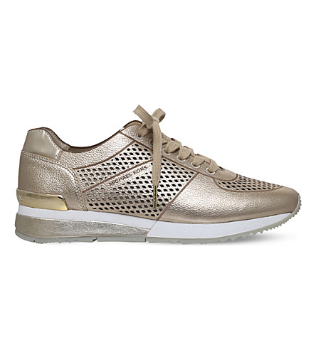 MICHAEL MICHAEL KORS Tilda metallic leather trainers (Gold