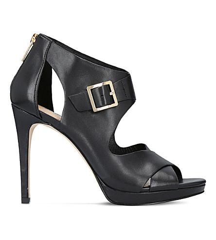 MICHAEL MICHAEL KORS Kimber leather heeled sandals (Black