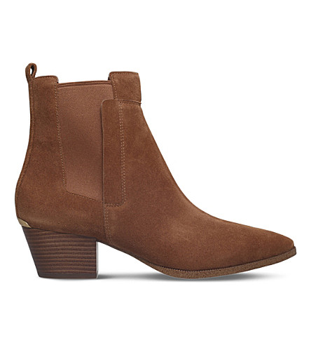 MICHAEL MICHAEL KORS Wilson suede ankle boots (Tan