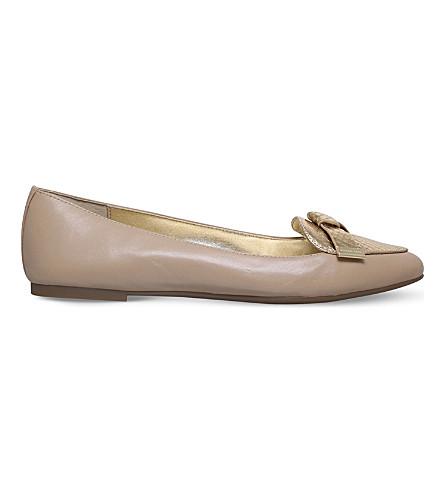 MICHAEL MICHAEL KORS Rosie leather ballet flats (Beige+comb
