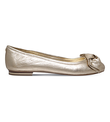 MICHAEL MICHAEL KORS Willa leather ballet flats (Gold