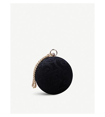 CARVELA Guide velvet clutch bag (Black