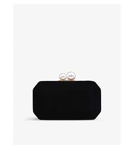 CARVELA Gloat velvet clutch bag (Black