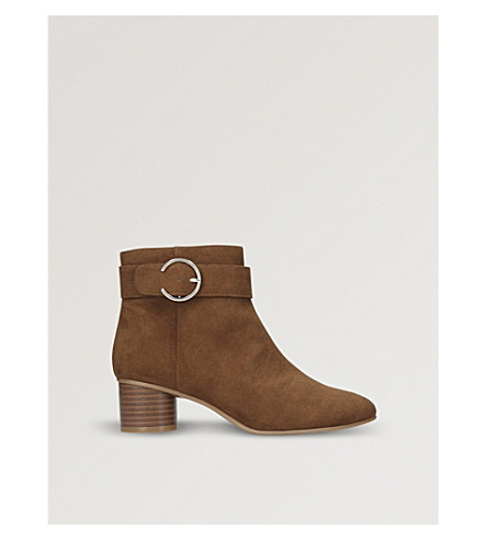 NINE WEST Infact buckle-detail ankle boots (Brown