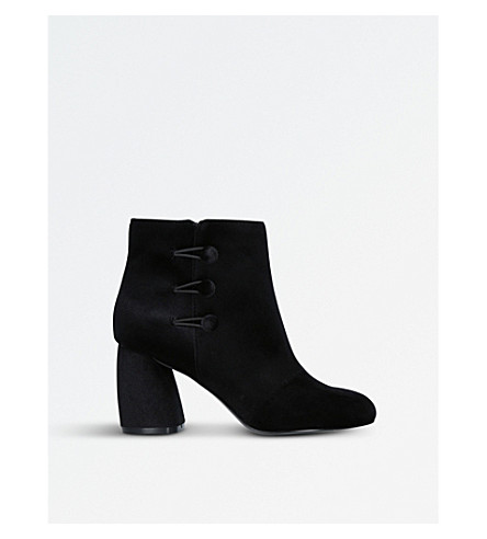 NINE WEST Khraine suede heeled ankle boots (Black