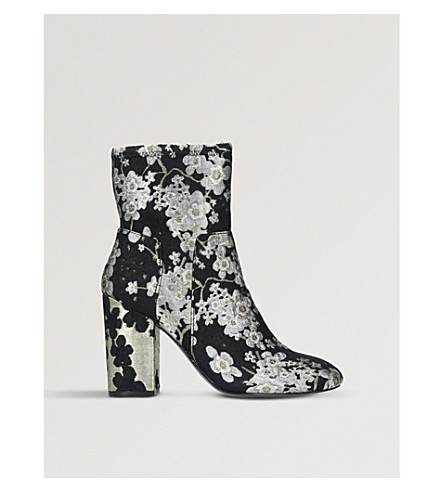 NINE WEST Corban brocade ankle boots (Blk/red