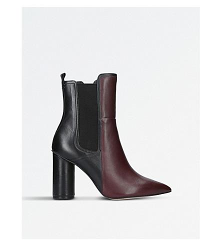 KG KURT GEIGER Siren leather boots (Wine