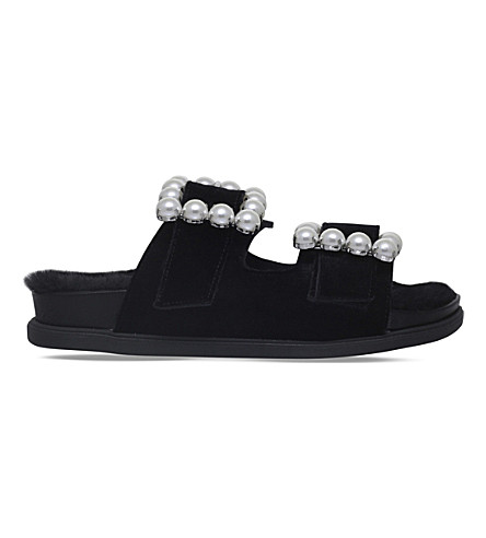 CARVELA Candy velvet sliders (Black