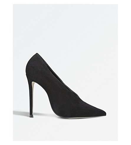 CARVELA Alistair low-vamp suede booties (Black
