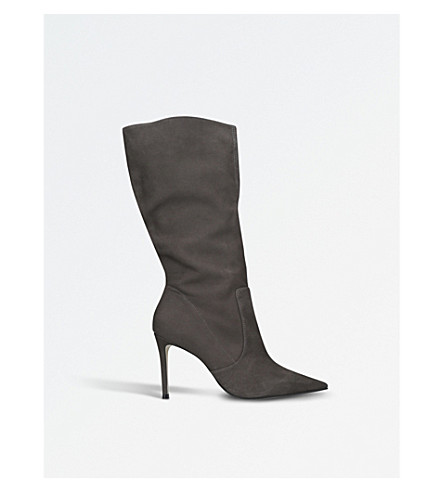 CARVELA Special suede point-toe boots (Grey