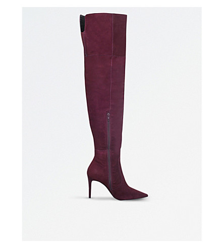 CARVELA Winner suede over-the-knee boots (Wine