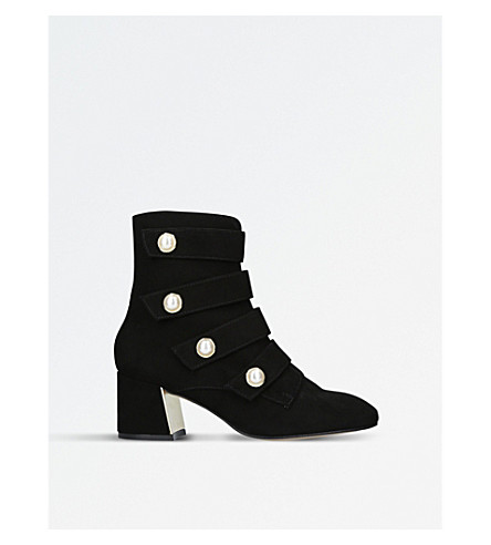 CARVELA Spandau military-inspired suede ankle boots (Black