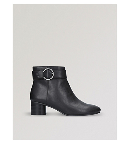 NINE WEST Infact buckle-detail ankle boots (Black