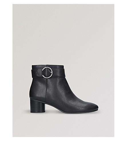 NINE WEST 逸-细节踝靴 (黑色