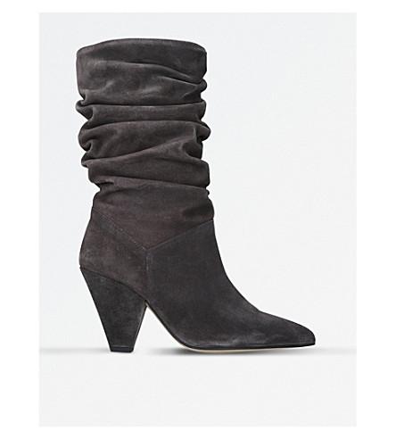CARVELA Scrunch suede boots (Grey