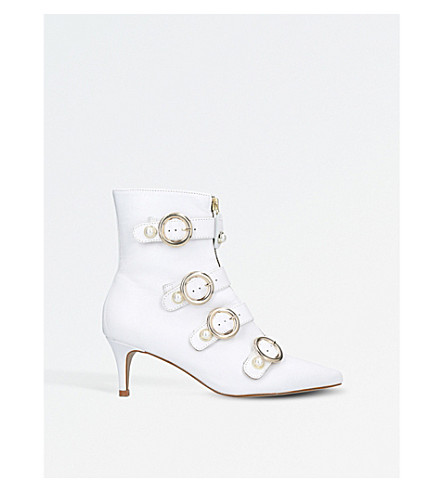 CARVELA Sparky leather ankle boots (White