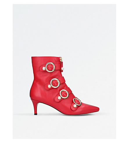 CARVELA Sparky leather ankle boots (Red