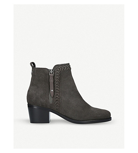 NINE WEST Sculpt lattice-detail ankle boots (Grey