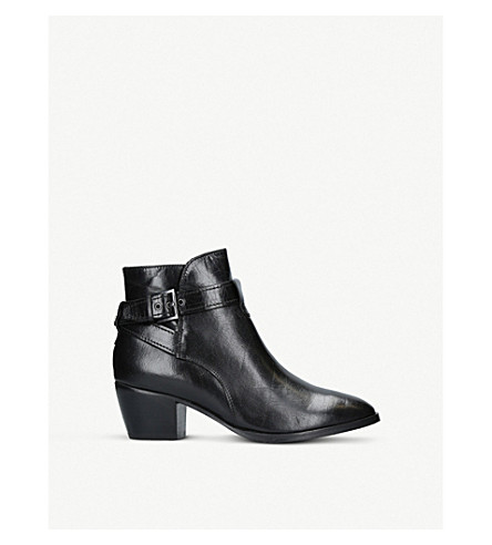 NINE WEST Naomi leather boots (Black