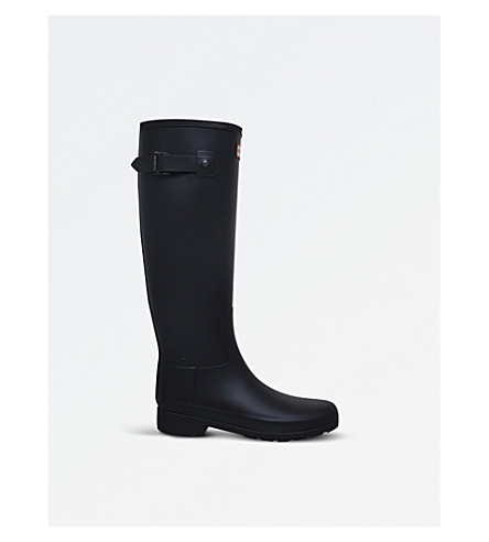 HUNTER Hunter Refined tall Wellington boots (Black