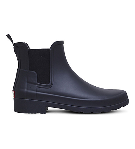 HUNTER Original Refined matte rubber Chelsea boots (Black