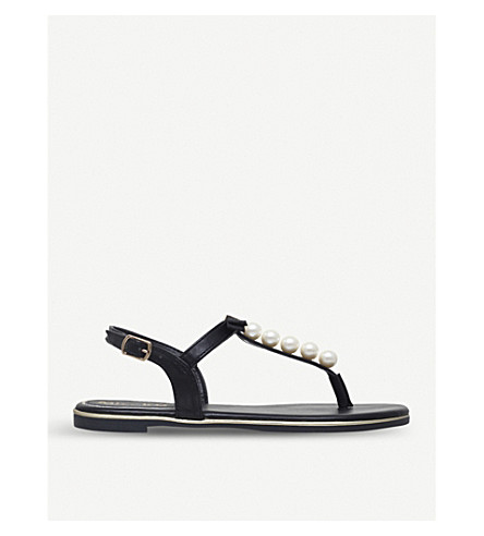 MISS KG Rey leather sandals (Black