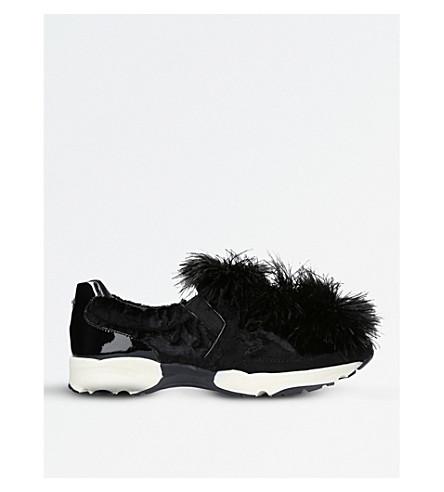 CARVELA Lima faux-fur trainers (Black