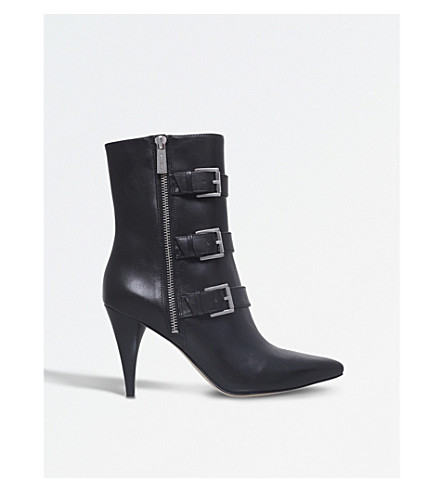 MICHAEL MICHAEL KORS Lori buckled leather boots (Black