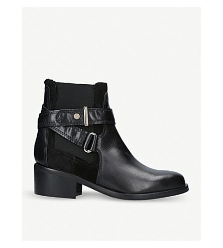 CARVELA Stirrup leather ankle boots (Black