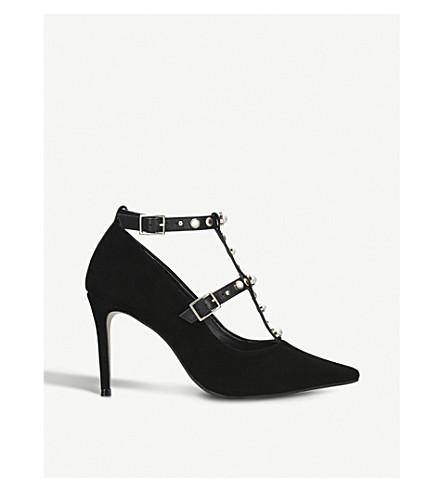 CARVELA Agave suede embellished heels (Black