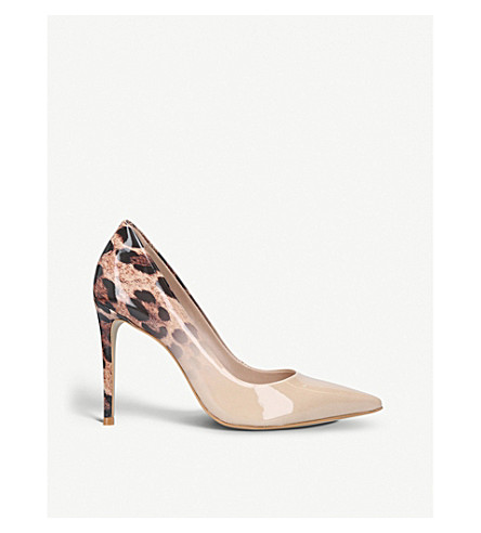 CARVELA Alice 2 leopard-print patent courts (Camel/oth