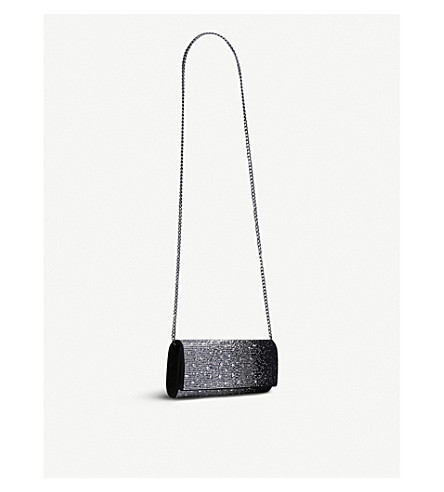 CARVELA Gretal embellished clutch bag (Black/comb